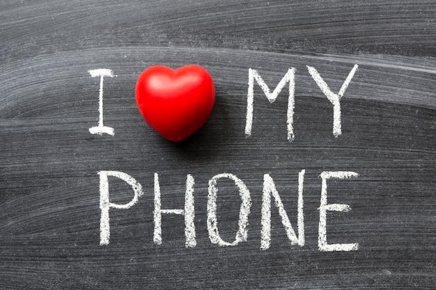 学校の黒板に手書きで書かれた電話のフレーズが大好きです Premium写真