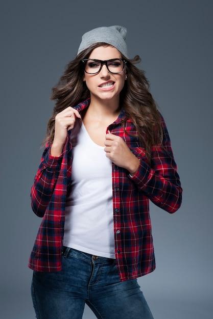 眼鏡をかけるのは本当に好きではありません 無料写真