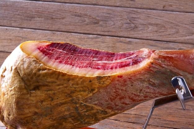 Iberian ham pata negra from spain Premium Photo
