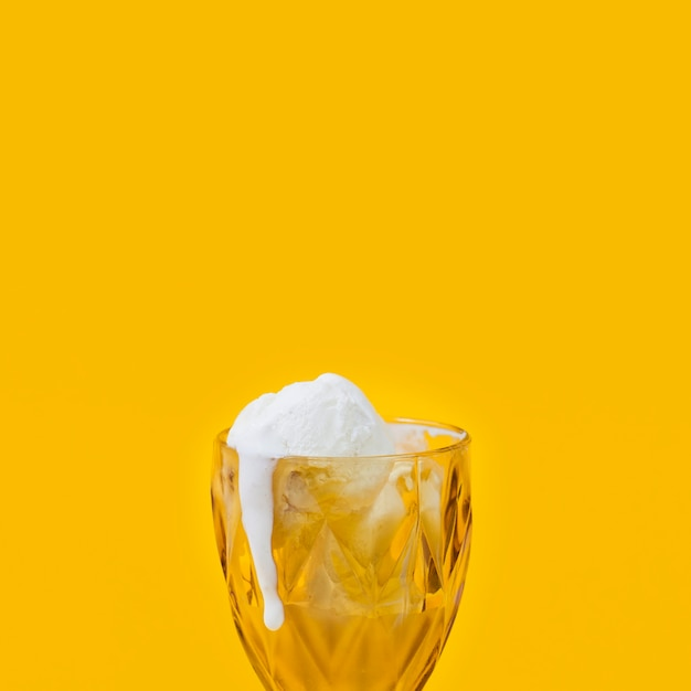 Ice-cream melting in cup Free Photo