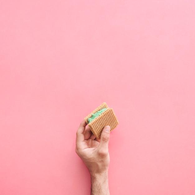 アイスクリームサンドイッチの背景 無料写真