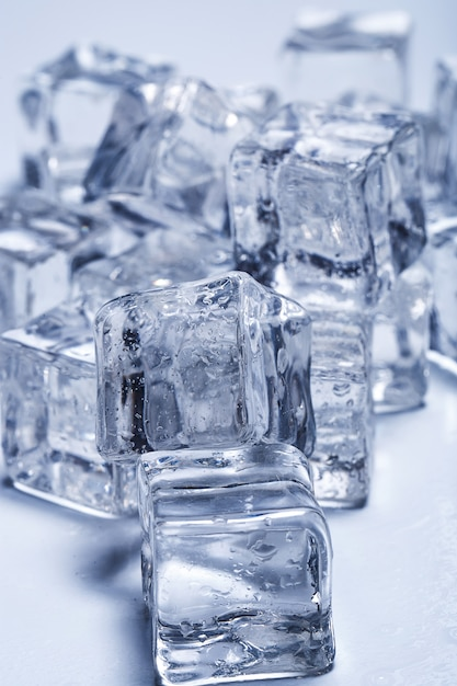Ice cubes on the table Free Photo