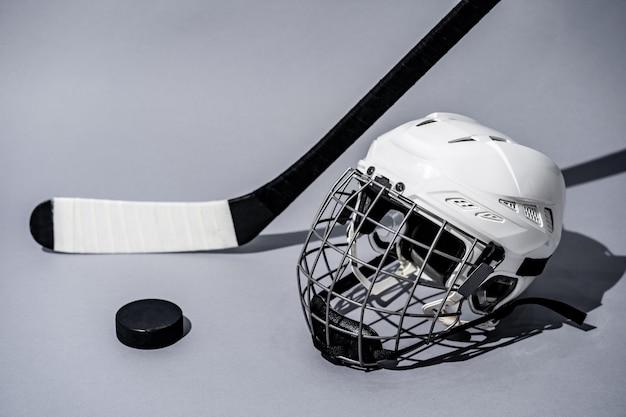Ice hockey stick on isolated white background Premium Photo
