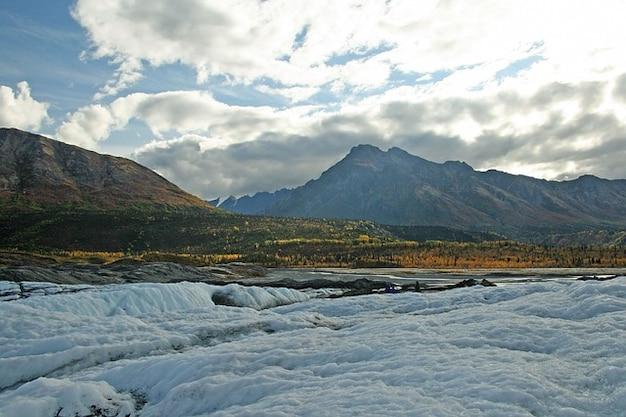 Ice mountains alaska snow glacier Free Photo
