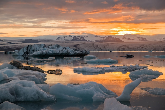 Iceberg lagoon in iceland Premium Photo