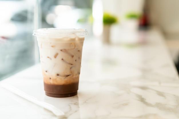 Iced belgian chocolate milkshake cup Premium Photo