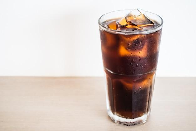 Iced cola glass Free Photo