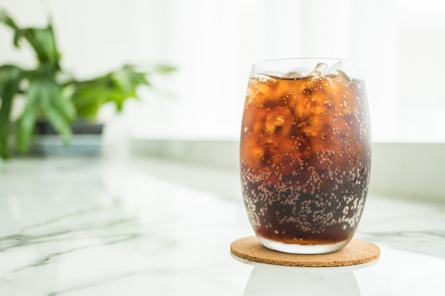 Iced cola glass Free Photo
