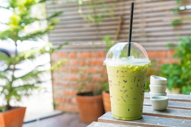 Iced green tea milkshake Free Photo
