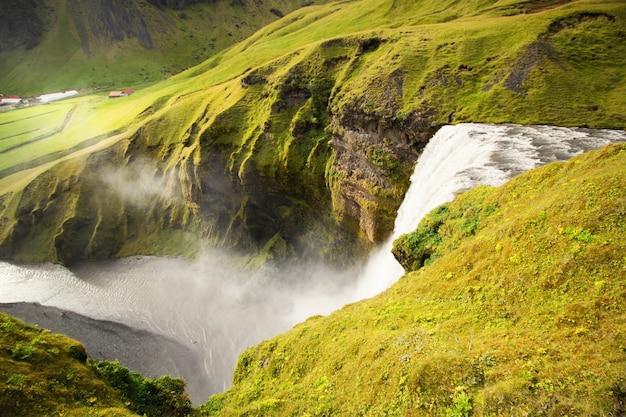 Iceland's waterfall Free Photo