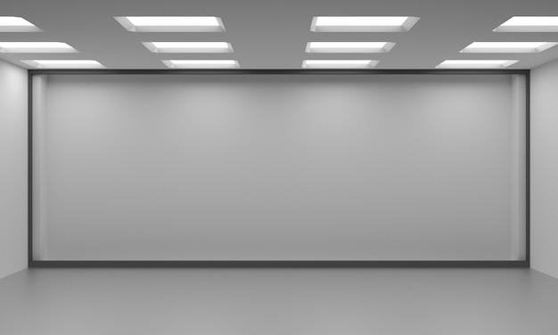 흰색 빈 스칸디나비아 룸 인테리어의 아이디어. 프리미엄 사진