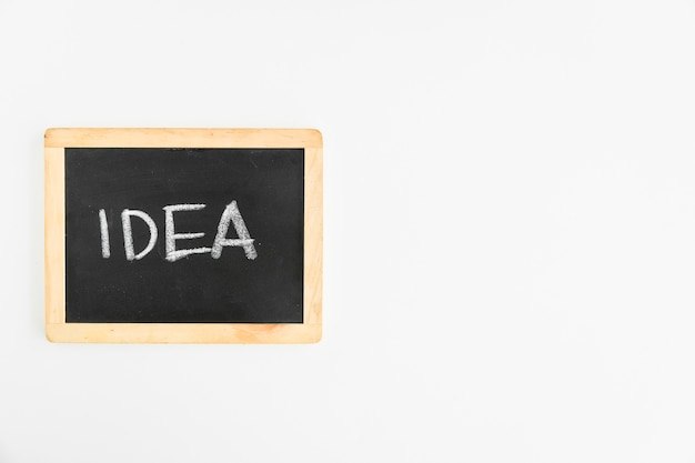 Idea text written on slate over the white background Free Photo