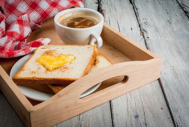 Idea for valentine's day: breakfast Premium Photo