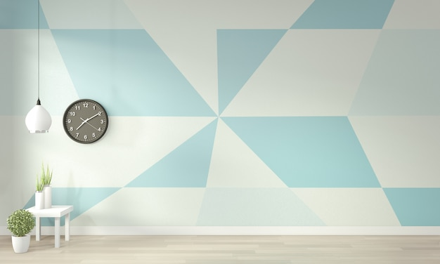 Premium Photo Ideas Of Light Blue And White Living Room Geometric Wall Art Paint Color Full Style On Wooden Floor 3d Rendering