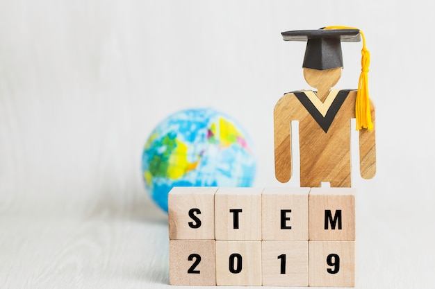Ideas for stem education about science, technology, engineering, mathematics word Premium Photo