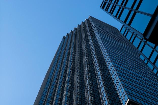 米国ミネソタ州ヘネピン郡ダウンタウンのミネアポリスダウンタウンのidsセンタータワーの低角度図 Premium写真