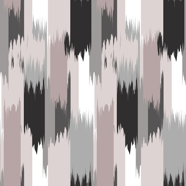 Ikat seamless pattern design for fabric. Premium Photo