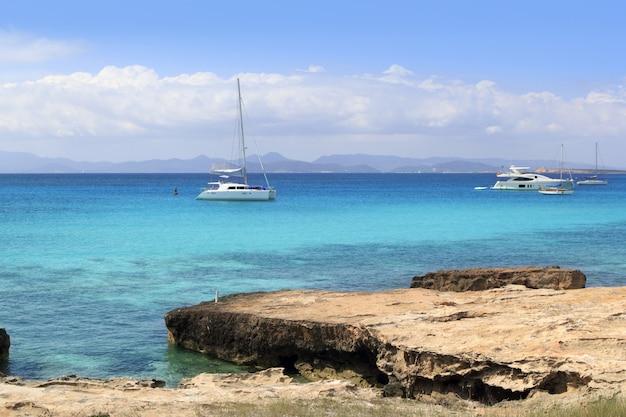 Illetes view from savina port formentera Premium Photo