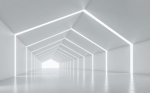 Illuminated corridor interior design Premium Photo