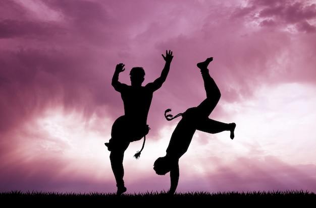 Illustration of capoeira dance Premium Photo