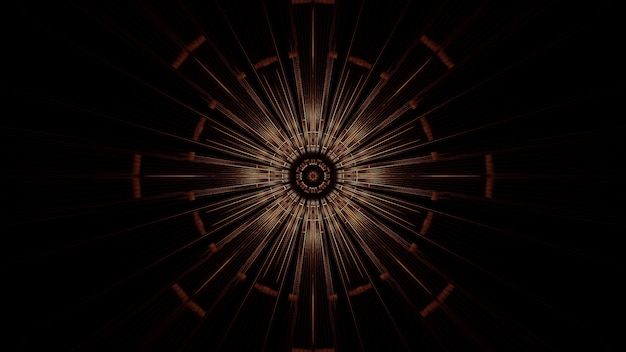 추상 네온 조명 효과가있는 원의 그림-미래형 배경에 적합 무료 사진