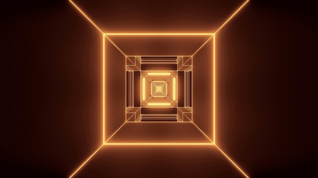 단일 방향으로 흐르는 직사각형 모양의 황금 빛의 그림 무료 사진