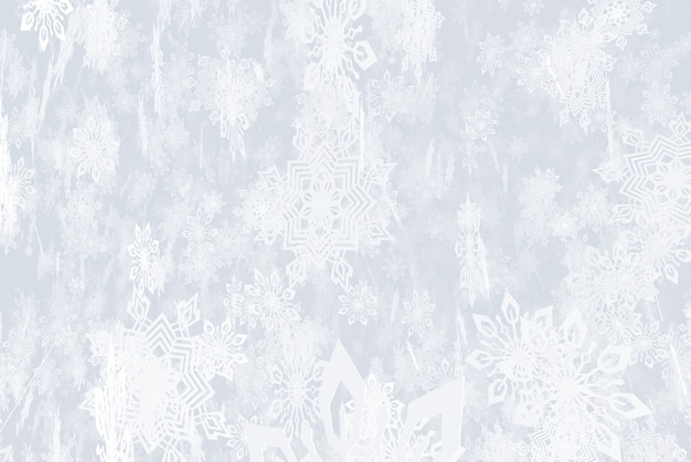Illustration on the theme of the new year snowfall 3d illustration Premium Photo