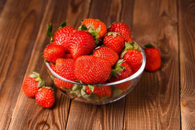 Image of fresh ripe strawberry Premium Photo