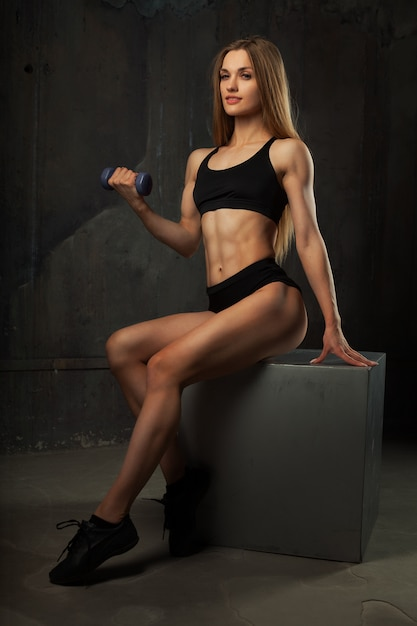 Image of muscular young female athlete Premium Photo