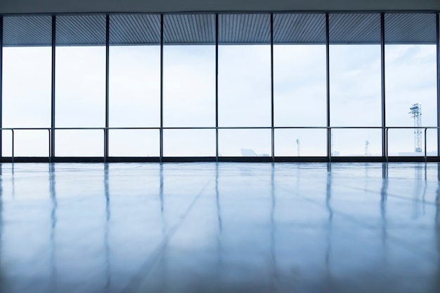 image of windows in morden office building Free Photo