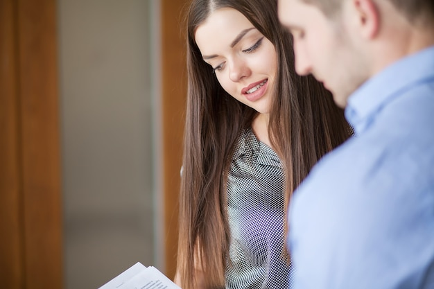 Image of two business partners planning work Premium Photo