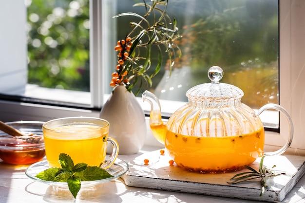 海クロウメモドキ茶の画像。 Premium写真