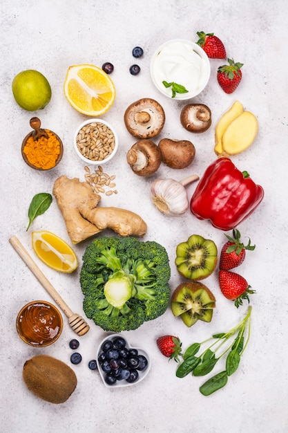 免疫ブースター食品 Premium写真