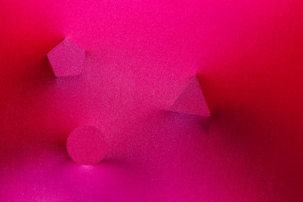 Imprints of various geometric figures Free Photo