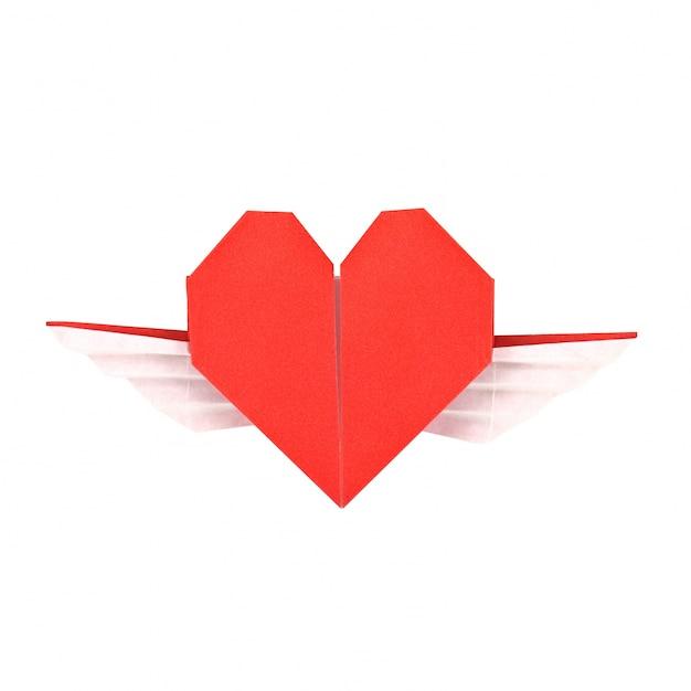 Impulsive folded heart day shape Free Photo
