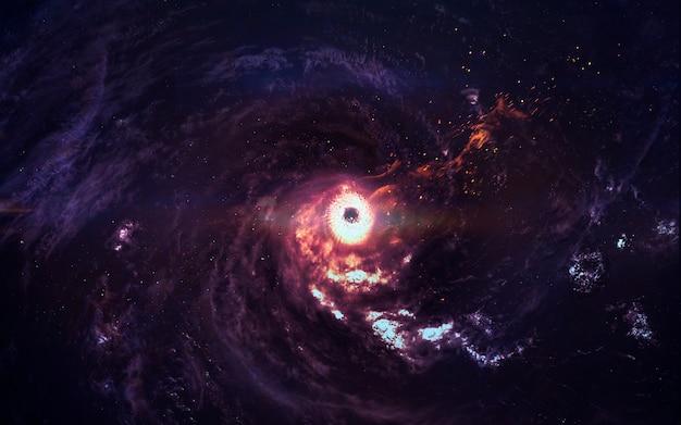 Incredibly beautiful galaxy in deep space. black hole. Premium Photo