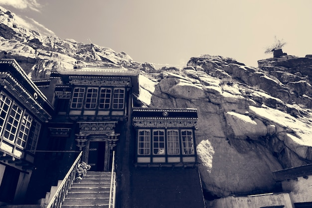 India rocky terrain hill building Free Photo