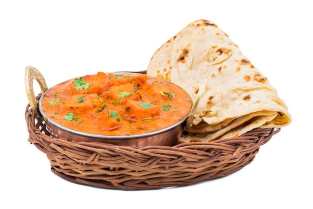 Indian delicious cuisine paneer tikka masala Premium Photo