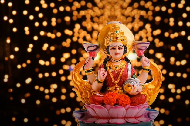 Indian festival diwali background Premium Photo