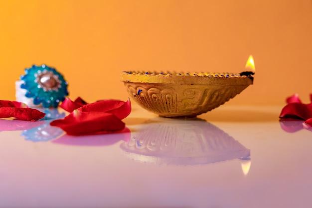 Indian festival diwali , diwali lamp Premium Photo