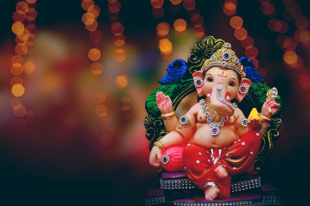 インドのガネーシャフェスティバル、ガネーシャ卿 Premium写真