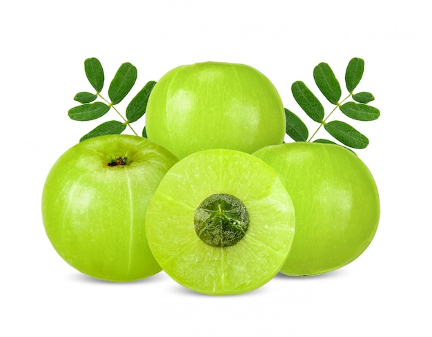 Indian gooseberry isolated with clipping path Premium Photo