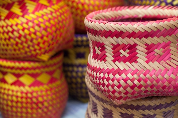 Indian handicrafts made by the natives of paraty Premium Photo