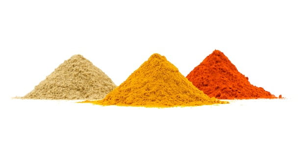 Indian heap of colourful spices Premium Photo
