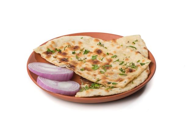 Indian naan bread Premium Photo