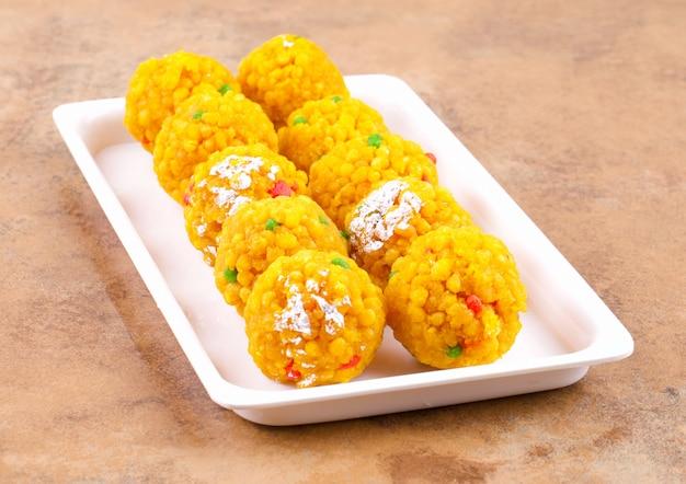 Indian sweet food laddu Premium Photo