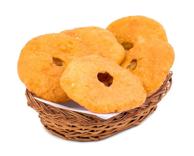 Indian traditional sweet kachori Premium Photo