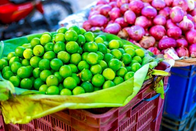 Indian vegetables market, vegitable food Premium Photo
