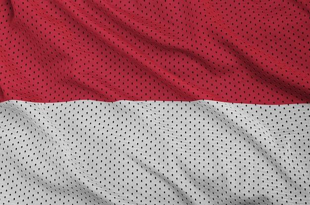 Indonesia flag printed on a polyester nylon mesh Premium Photo
