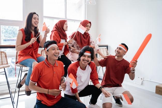 День независимости сторонника индонезии Premium Фотографии